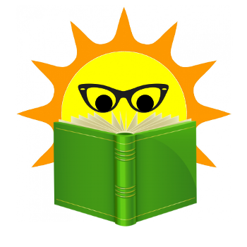 Sun looking into a book