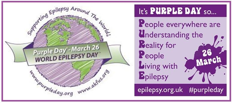 MARCH 26TH TO WEAR PURPLE TO SUPPORT OUR LOVED ONES WHO ARE AFFECTED BY EPILEPSY