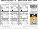 Spirit Wear Ordering Form