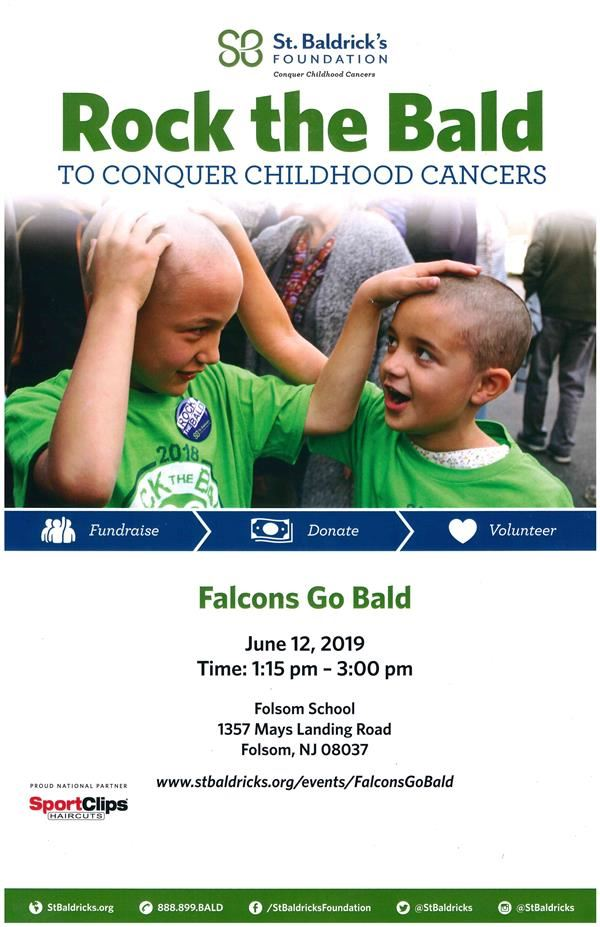 Falcons Go Bald  -  Be a hero for kids with cancer!