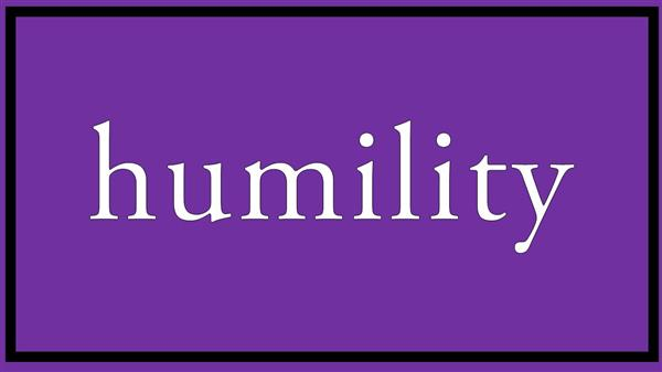 April's Newsletter Humility